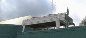 čištění chladiče kogenerační jednotky v bioplynové stanici